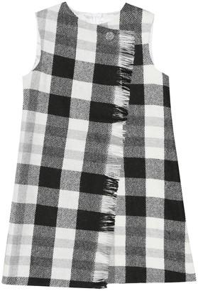 Il Gufo Checked wool-blend shift dress