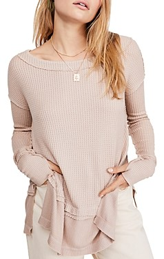 Free People North Shore Waffle-Knit Tee