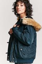 Forever 21 Faux Fur-Trimmed Parka Jacket