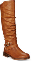 XOXO Martin Wide-Calf Riding Boots