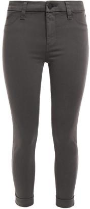J Brand Anja Cropped Brushed Cotton-blend Sateen Skinny Pants