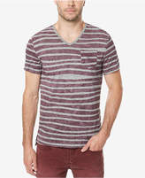 Buffalo David Bitton Men's Striped V-Neck T-Shirt