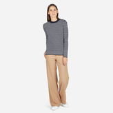 Everlane The Merino Wool Stripe High Crew Sweater
