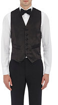 Barneys New York Men's Satin Tuxedo Waistcoat-BLACK