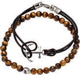 Simon Carter Double Bracelet Set W Tigerseye Skull Bead Brn Anchor