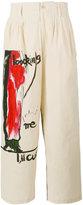 Yohji Yamamoto printed trousers - men - Cotton - 2