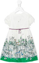 Gucci Kids - floral print dress - kids - Silk/Cotton/Viscose - 24-36 mth