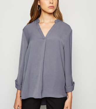 New Look Herringbone Tab Long Sleeve Shirt