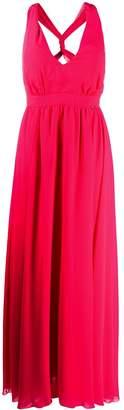 Liu Jo V-neck chiffon gown