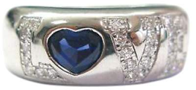 Chopard 18K Gold Diamond & Sapphire Love Ring