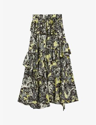 Ted Baker Jumo paisley-print silk midi skirt