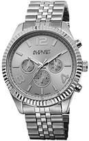 August Steiner Men's AS8096SS Swiss Quartz Multifunction Silver-tone Stainless Steel Bracelet Watch