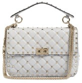 Valentino Rockstud Spike Medium Shoulder Bag - White