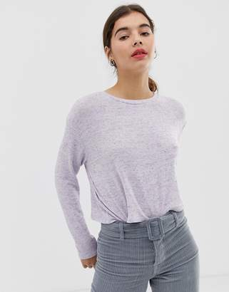 New Look top with lattice back in lilac-Purple