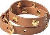 Tory Burch Double-wrap Logo studded bracelet