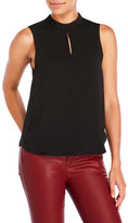 Naked Zebra Sleeveless Mock Neck Top
