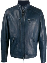 Parajumpers High-Neck Biker Jacket