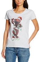 Sesame Street Women's 66.Elmo Xmas Decor Crew Neck Short Sleeve T-Shirt