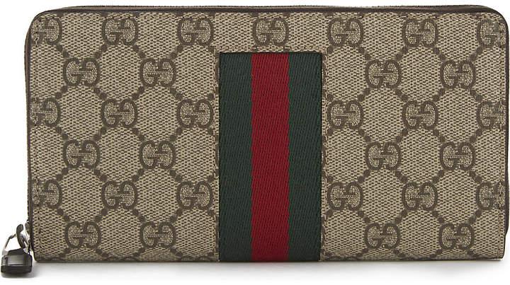Gucci Supreme zip around wallet