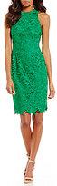 Antonio Melani Peggy Halter Lace Sheath Dress