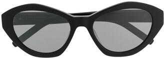Saint Laurent Hexagon Cat-Eye Sunglasses