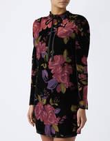 Monsoon Joanna Velvet Print Dress