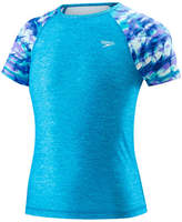 Speedo Girls Tie Dye Rash Guard-Big Kid