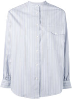 Aspesi band collar striped shirt - women - Cotton - XS
