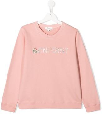 Bonpoint Logo Print Sweatshirt