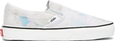 Kenzo White Cloud Print Vans Edition Slip-On Shoes