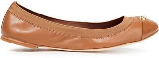 Tory Burch Jolie Logo-appliqued Leather Ballet Flats