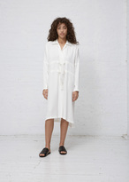 Zero Maria Cornejo white long sleeve nola dress