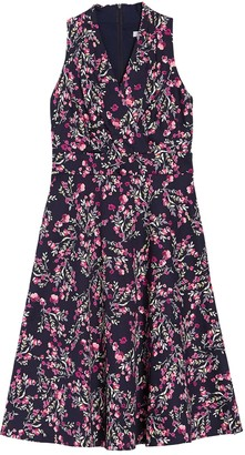 London Times Floral Sleeveless Fit & Flare Midi Dress (Petite)