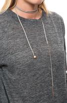 Piper Dano Leather Lariat with Diamonds