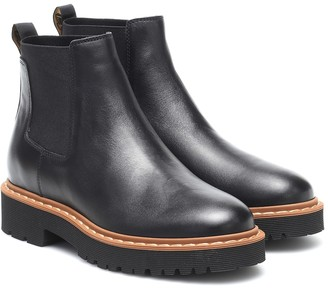 Hogan Leather Chelsea boots