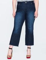 ELOQUII Plus Size Fringe Cropped Jean