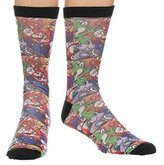 Nintendo Crew Sock Super Mario Sublimated Anime Licensed cr23aksmb