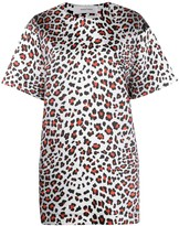 Marques Almeida Marques'almeida leopard print T-shirt dress