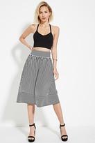 Forever 21 FOREVER 21+ Stripe Pleated Skirt