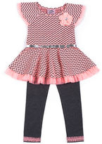 Little Lass Girls 2-6x Two-Piece Dress and Leggings Set
