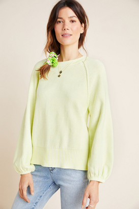 Anthropologie Emily Puff-Sleeved Sweater