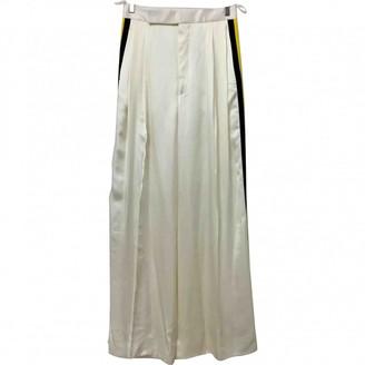 Celine White Silk Trousers