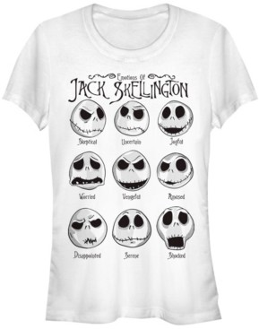 Fifth Sun Women's Nightmare Before Christmas Jack Emotions Short Sleeve T-shirt