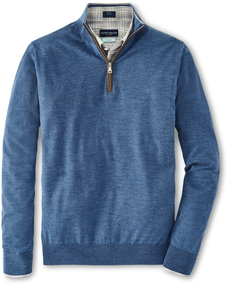 Peter Millar Men's Excursionist Flex Quarter-Zip Sweater
