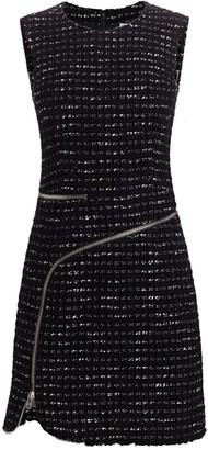 Alexander Wang Zipper-Trimmed Tweed Sheath Dress