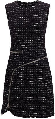 Alexander Wang Zipper-Trimmed Tweed Sheath Dress