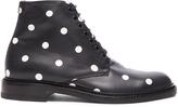 Saint Laurent Leather Polka Dots Lolita Boots