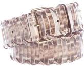 Lanvin Python Whipstitch Belt