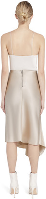 Alice + Olivia Jayla Drape Slit Midi Skirt