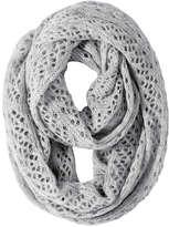 Joe Fresh Women's Cable Knit Circle Scarf, Grey Mix (Size O/S)